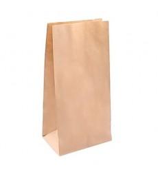 Пакет 120*80*250 мм бумажный без ручек с прямоугольным дном крафт 70 гр (25 шт./уп.)