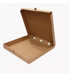 Коробка 330*330*40 мм для пиццы ECO PIZZA 330 Pure Kraft серая микро