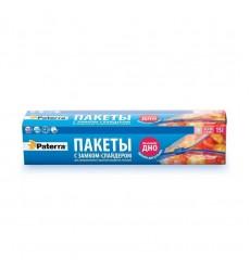 Пакет 3 л для заморозки с сейф-защелкой PATERRA (15 шт./уп.)