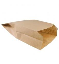 Пакет 225*140*60 мм бумажный без ручек крафт без печати (100 шт./уп.)