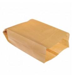 Пакет 390*250+100 мм бумажный без ручек крафт без печати (100 шт./уп.)