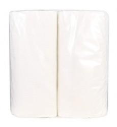 Полотенца бумажные 2-слойные белые в прозрачной упаковке (2 рул./уп.)