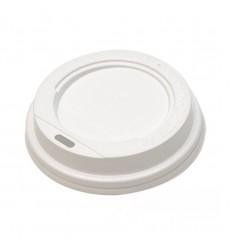 Крышка d-90 мм ПС для горячих напитков белая, набор (5 шт./уп.)