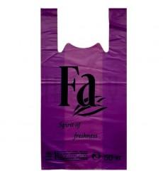 Пакет-майка 30*55 см, 30 мкм цветной (фиолетовый) FA (100 шт./уп.)