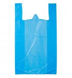 Пакет-майка 24*45 см, 10 мкм цветной (синий) (100 шт./уп.)