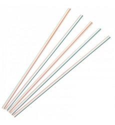 Трубочка для коктейля 5*210 мм прямая полосатая (50 шт./уп.)