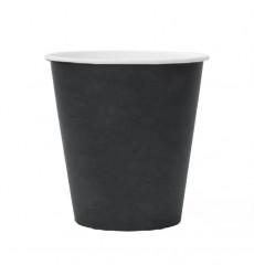 Стакан 250 мл бумажный для горячих напитков черный (50 шт./уп.)