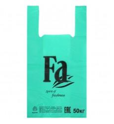 Пакет-майка 30*55 см, 30 мкм цветной (бирюзовый) FA (100 шт./уп.)