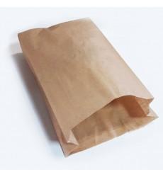 Пакет 250*200*90 мм бумажный без ручек крафт без печати (100 шт./уп.)