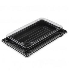 Емкость для суши УК-704 с прозрачной крышкой, черная (89 шт./уп.)