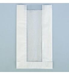 Пакет 310*170*80 мм бумажный без ручек с окном 80/85 мм белый без печати (100 шт./уп.)