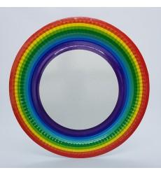 Тарелка d-230 мм картонная, цветная печать РАДУГА (100 шт./уп.)