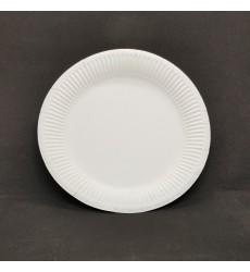 Тарелка d-230 мм картонная мелованная белая (100 шт./уп.)
