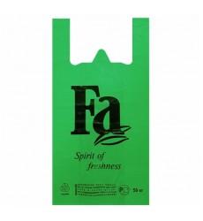Пакет-майка 30*55 см, 30 мкм цветной (зеленый) FA (100 шт./уп.)