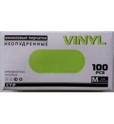 Перчатки виниловые неопудренные р. M (100 шт./уп.)