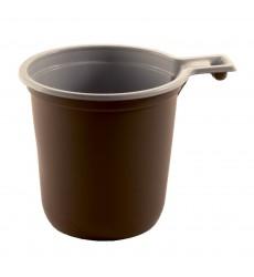 Чашка 200 мл кофейная бело-коричневая (50 шт./уп.)