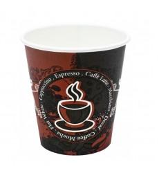 Стакан 180 мл бумажный для горячих напитков COFFEE LATTE (50 шт./уп.)