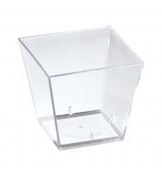 Креманка фуршетная 60 мл (форма) ПС прозрачная 5037 КВАДРАТ (20 шт./уп.)